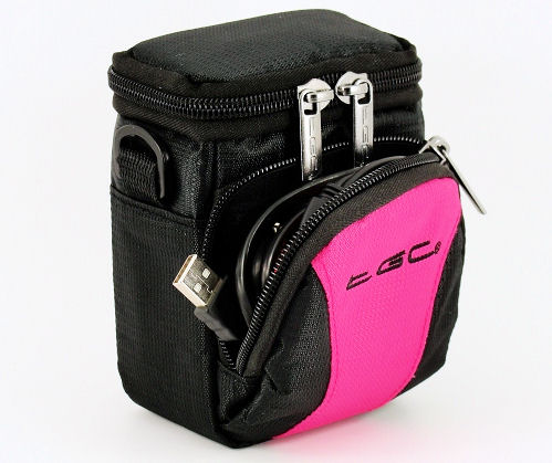 TGC Hot Pink Black Case 4 Compact Oregon Cameras Belt Loop Foam Padding