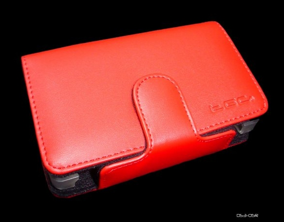 Product Photo/Nintendo Dsi Red Faux Leather Console Carry Case Bag/Click to view.
