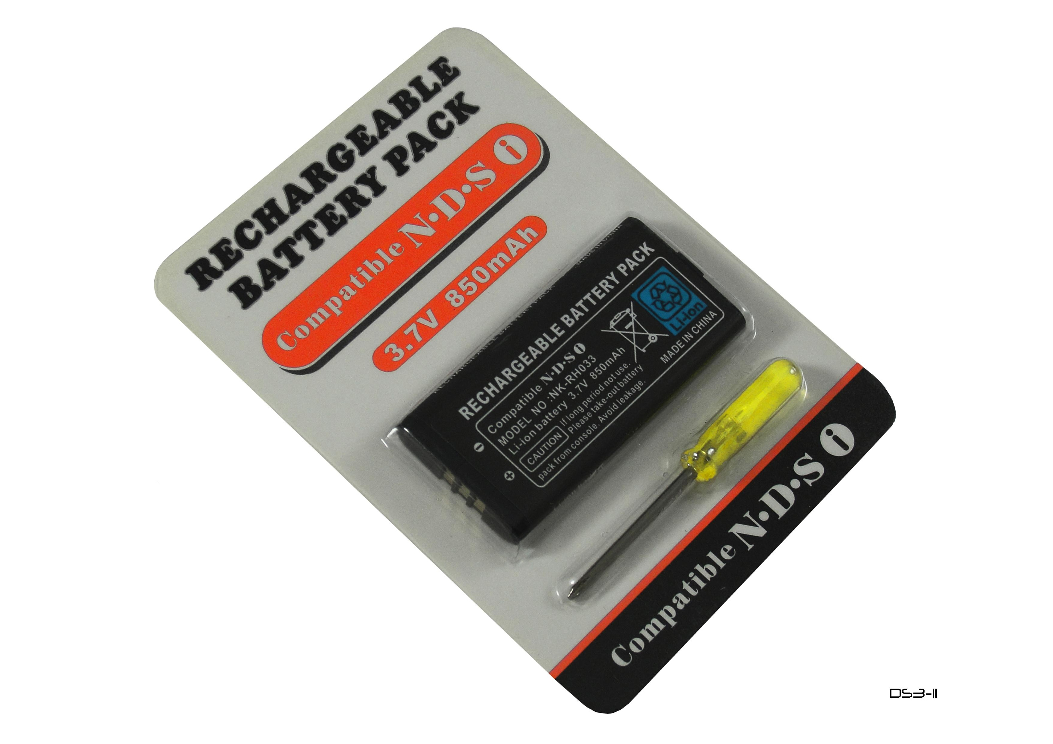 Product Photo/Replacement 850 MAH 3.7 V Li-ion Rechargeable Console Battery for Nintendo Dsi/Click to view.