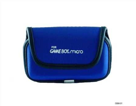 Product Photo/Nintendo Game-boy Micro GBM Blue Carry Case/Click to view.