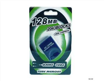 Product Photo/Nintendo Game-Cube & Nintendo Wii Compatible 128MB Memory Card/Click to view.