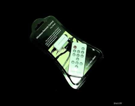 Product Photo/White Infra - Red Wireless Remote Control for iPod Video - Touch - Photo - Nano- iPhone - Mini - Classic/Click to view.