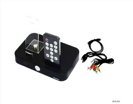 Product Photo/iPod Black iDock  Station with Remote for iPod Video - Touch - Photo - Nano- iPhone - Mini - Classic/Click to view.