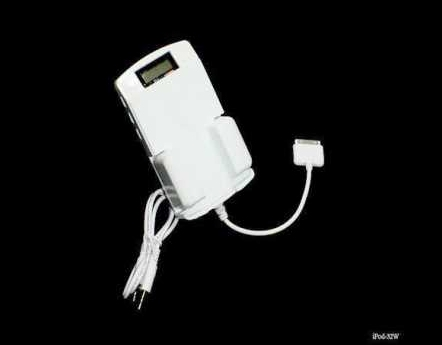 Product Photo/iPod White 5 in 1 - Cradle - 200 Channel FM Transmitter - Docking Charger Cable -  LCD Display - USB Charge Port/Click to view.