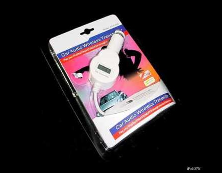 Product Photo/White In Car 200 Channel FM Transmitter & Charger for iPod Video - Touch - Photo - Nano- iPhone - Mini - Classic/Click to view.