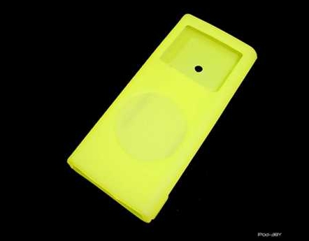Product Photo/iPod Nano 2nd generation Yellow Silicon Skin/Click to view.