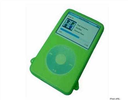 Product Photo/iPod Video 30 - 60 & 80 GIG Green Silicon Skin/Click to view.