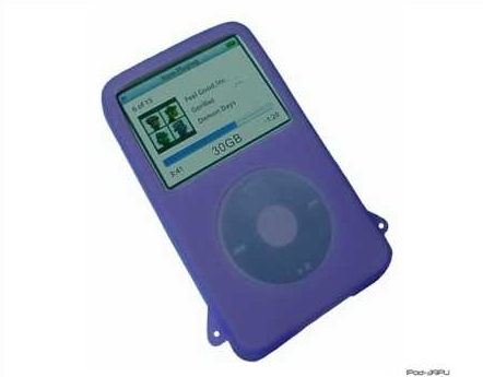 Product Photo/iPod Video 30 - 60 & 80 GIG Purple Silicon Skin/Click to view.