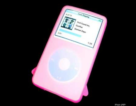 Product Photo/iPod Video 30 - 60 & 80 GIG Pink Silicon Skin/Click to view.
