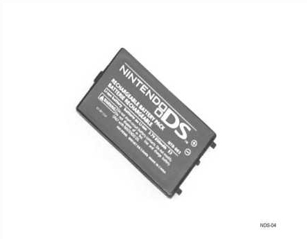 Product Photo/Nintendo DS Replacement Rechargeable Battery 850 MaH/Click to view.
