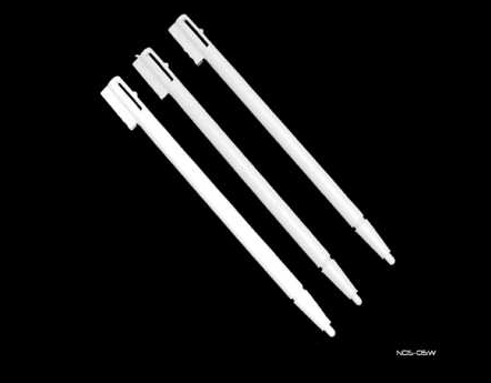 Product Photo/Nintendo DS 3 x White Replacement Stylus Pens/Click to view.