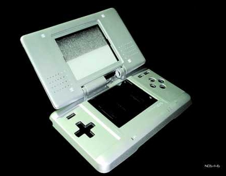 Product Photo/Nintendo DS Silver Full Replacement Console Shell/Click to view.