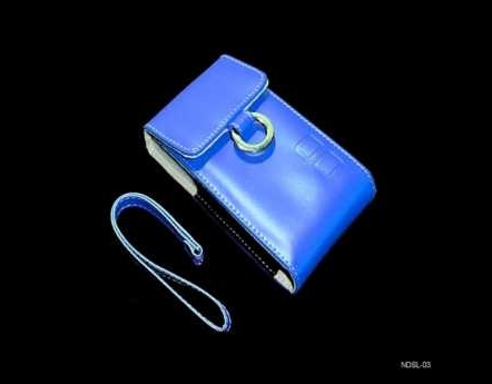 Product Photo/Nintendo DSL Lite - DSi Blue Faux Leather Carry Case/Click to view.