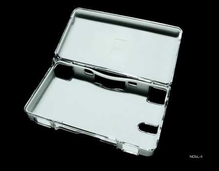 Product Photo/Nintendo DSL Lite Crystal Clear Polycarbonate Case with White Silicon Protective Lining/Click to view.