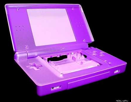 Product Photo/Nintendo DSL Lite Metallic Purple Full Replacement Console Shell/Click to view.