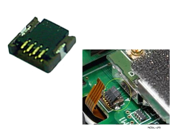 Product Photo/Nintendo DSL Lite Replacement P6 Touch Screen Mainboard Connector/Click to view.