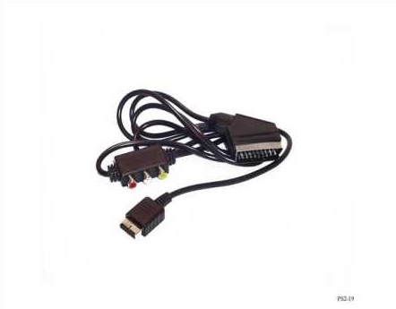 Product Photo/Sony Playstation 2 - PS2 RGB Scart Cable including AV output Box/Click to view.