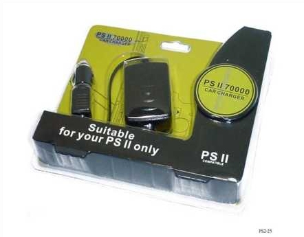 Product Photo/Sony Playstation 2 - PS2 Slim-Line 7xxx In Car Charger/Power Supply/Click to view.