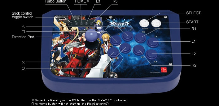 Product Photo/PS3 Blazblue Real Arcade Pro Stick/Click to view.