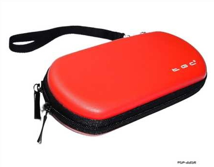 Product Photo/Sony Playstation PSP 1000 - 2000 Slim & 3000 Slim Red Air Fromed EVA Case/Click to view.