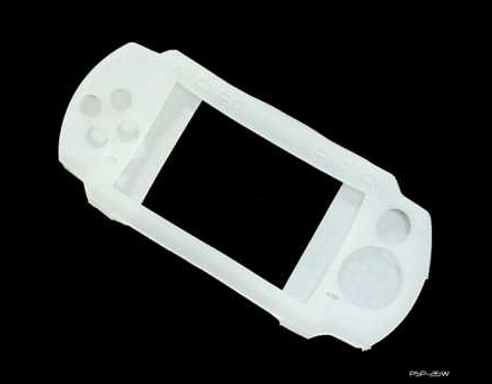 Product Photo/Sony Playstation PSP 2000 Slim & 3000 Slim White Silicon Console Skin/Click to view.
