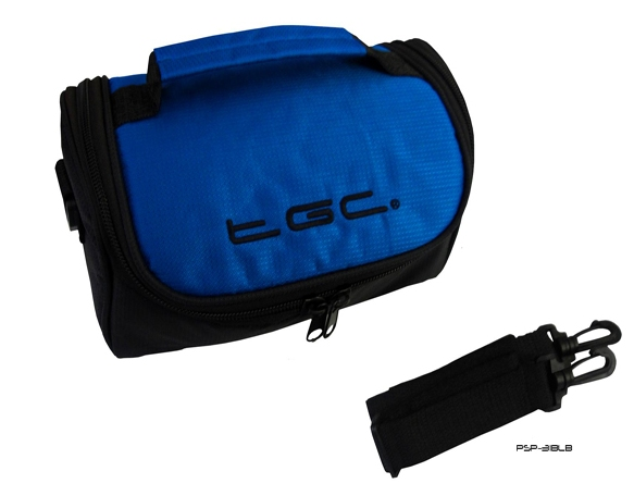 Product Photo/Electric Blue & Black Travel Bag Case for the TomTom GO LIVE 1535 M Sat Nav GPS/Click to view.
