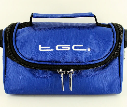 Product Photo/Dreamy Blue Carry Case Bag for JVC 3D Everio Camcorder GZ-HM960BEK Camcorder /Click to view.
