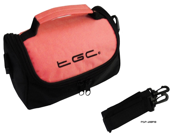 Product Photo/Baby Pink & Black Carry Case Bag for Canon Canon LEGRIA HF M406 Camcorder /Click to view.