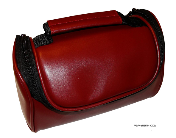 Product Photo/New Brown Faux Leather Travel Bag Case for the Vexia OnRoad 555 Sat Nav GPS/Click to view.