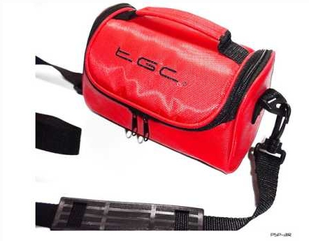 Product Photo/Crimson Red Carry Case Bag for Panasonic HX-WA2 Active HD Camcorder/Click to view.