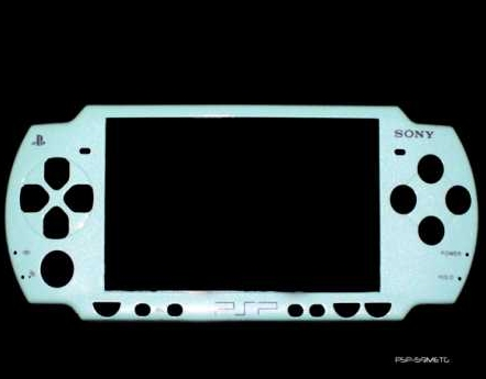 Product Photo/Sony Playstation PSP 2000 Slim Metallic Green Replacement Console Face Plate/Click to view.