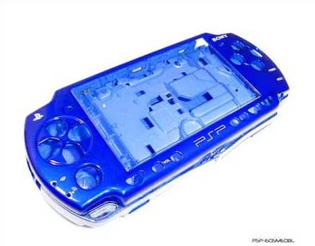 Product Photo/Sony Playstation PSP 2000 Full Mediterranean Blue Replacement Console Shell/Click to view.