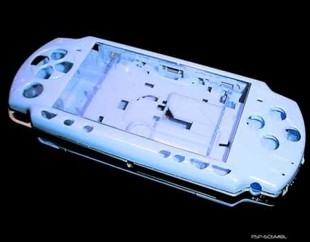 Product Photo/Sony Playstation PSP 2000 Full Metallic Ice Blue Replacement Console Shell/Click to view.