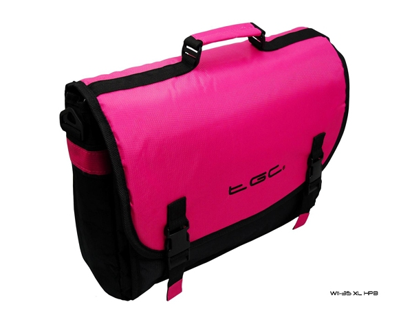Product Photo/Hot Pink & Black Messenger Style TGC Bag for MSI X-Slim X370 X460 X460DX Laptop/Click to view.