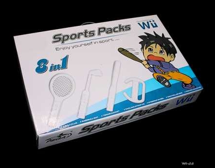 Product Photo/Nintendo Wii 8 in 1 Sport Kit for Wii Sports Game/Click to view.