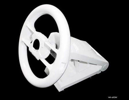 Product Photo/Nintendo Wii White Racing Wheel/Click to view.