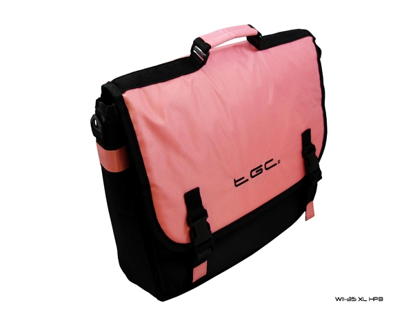 Product Photo/Baby Pink & Black Messenger Style TGC Bag 4 Novatech Elite Pro Mini B950 Laptop/Click to view.