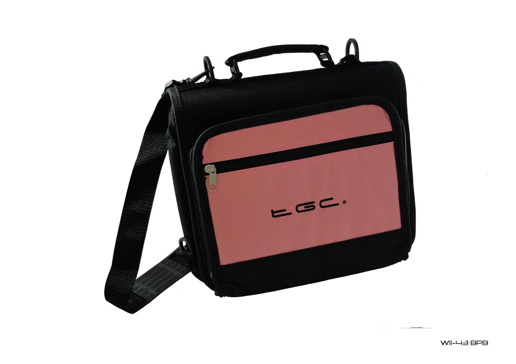 Product Photo/New Baby Pink & Black TGC Portable DVD Carry Case Bag with In Car Strap Kit/Click to view.