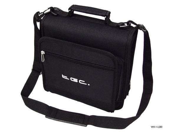 Product Photo/New Black TGC Portable DVD Carry Case Bag + In Car Kit/Click to view.