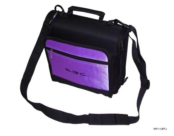 Product Photo/New Purple TGC Portable DVD Carry Case Bag + In Car Kit/Click to view.