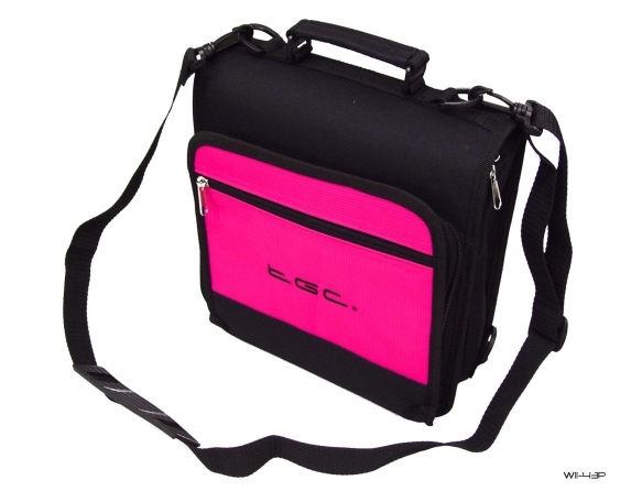 Product Photo/New Pink TGC Portable DVD Carry Case Bag + In Car Kit/Click to view.