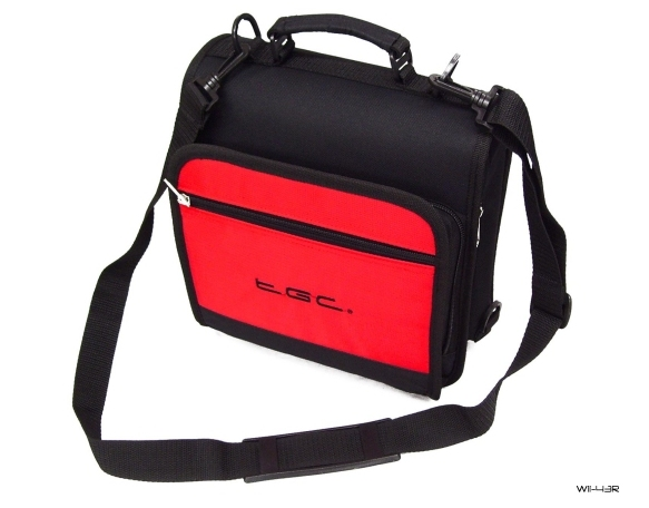 Product Photo/New Red TGC Portable DVD Carry Case Bag + In Car Kit/Click to view.