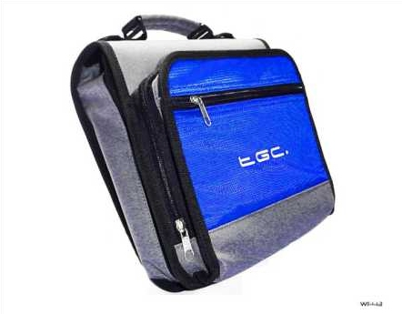 Product Photo/New Blue TGC Portable DVD Carry Case Bag + In Car Kit/Click to view.