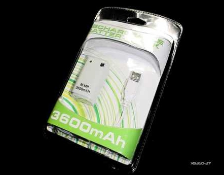 Product Photo/Xbox 360 Controller 3600 mAh Battery Pack/Click to view.