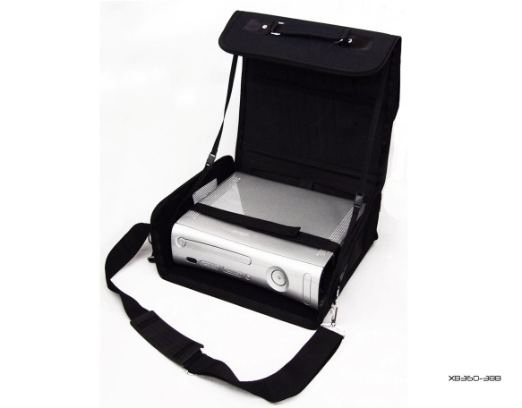 Product Photo/Black Deluxe Console Carry Bag Case for Xbox 360 Slim/Click to view.