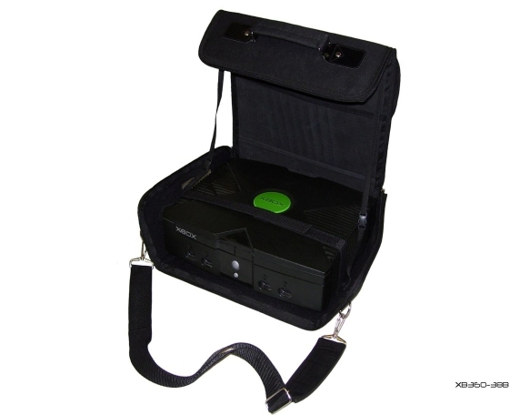 Product Photo/Black Deluxe Console Carry Bag Case In Car for Xbox UK/Click to view.