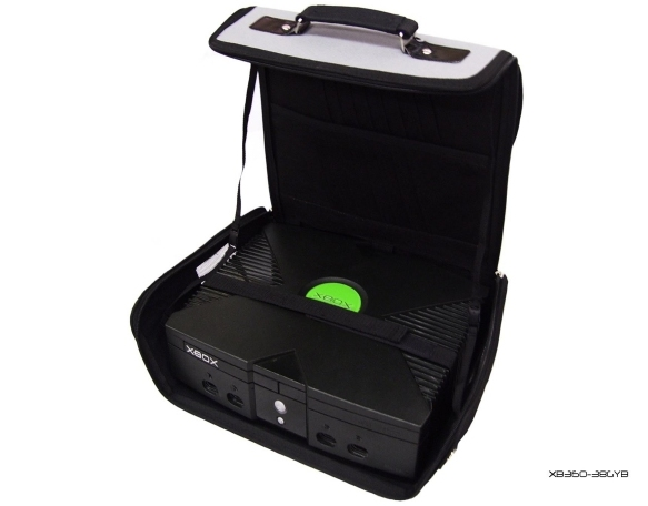 Product Photo/Grey + Black Console Carry Bag Case In Car for Xbox UK/Click to view.