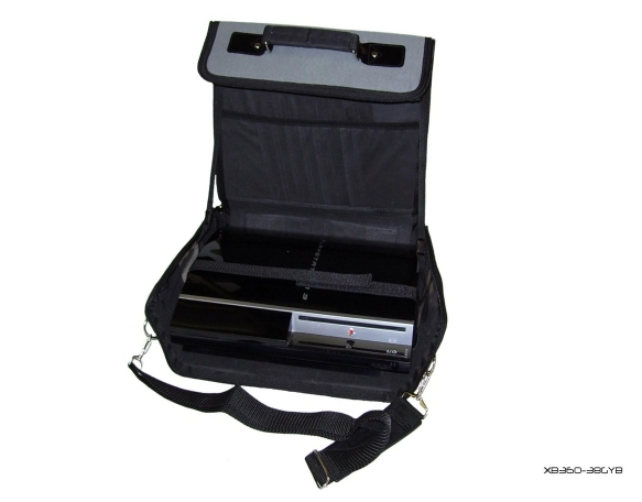 Product Photo/Grey + Black Console Carry Bag Case Playstation 3 Slim/Click to view.