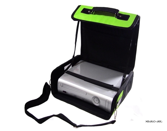 Product Photo/Green Deluxe Console Carry Bag Case for Xbox 360 Slim/Click to view.