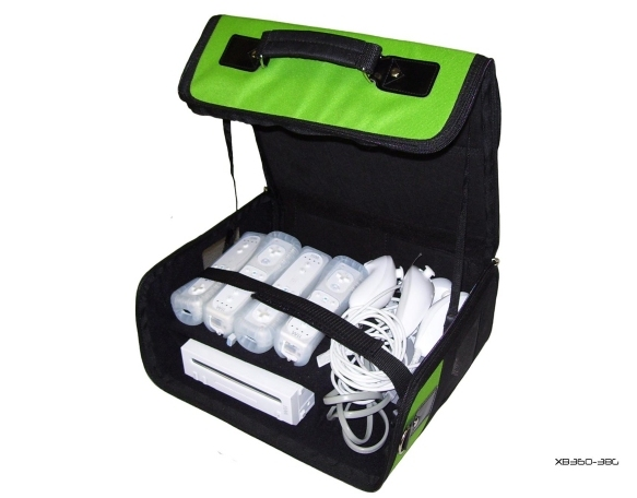 Product Photo/Green Console Carry Bag Case In Car 4 Nintendo Wii/Click to view.